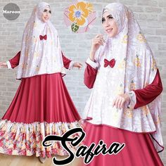 safira maroon rp115, bahan spandek korea, motif bunga, sleting depan, ld 95 smp 105, jilbab non pad, lebar bawah 270cm, berat 800gram  contact us  FB fanpage: Toko Alyla  line@: @alylagamis  WA: 0812-8045-6905    toko online baju muslim  gamis murah  hijab murah  supplier hijab  konveksi gamis  agen jilbab