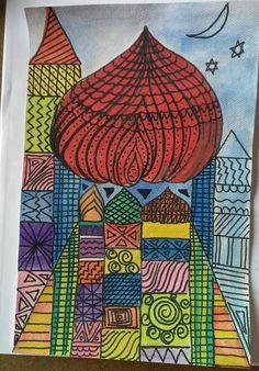 Inspired by Paul Klee's castles.