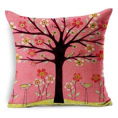 Cushion Tree - Print pillow Bed - Home Decorative Pillow