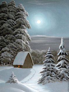 Christmas Scenes, Christmas Images, Christmas Art, Winter Christmas, Winter Images, Winter Pictures, Winter Wallpaper, Nature Wallpaper, Winter Illustration
