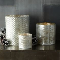 Add the Dotted Mercury Hurricanes ($9-$41, originally $14-$59) to your tabletop for an on-trend accent.