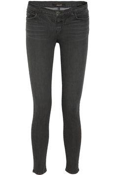 J Brand | 811 mid-rise striped skinny jeans | NET-A-PORTER.COM