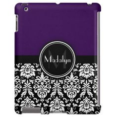 Purple Black White Damask Monogram Letter Yes I can say you are on right site we just collected best shopping store that haveThis Deals          Purple Black White Damask Monogram Letter Here a great deal...