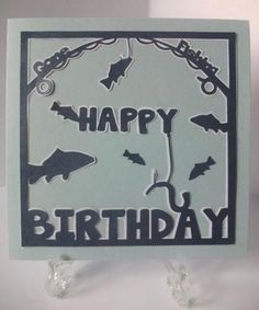 Happy Birthday Fishing Topper Studio SVG MTC Commercial on Craftsuprint - View Now!