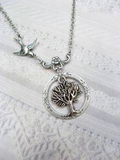 Silver TREE OF LIFE Necklace - Eternity Tree of Life - Jewelry by BirdzNbeez - $22.00, via Etsy.