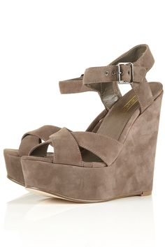 LENNY Wedge Cross Front Sandal