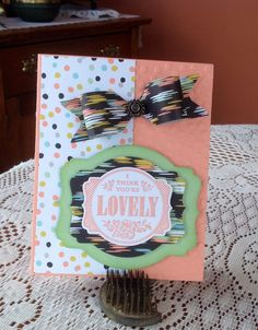 Envelope Punch Board Bow!
