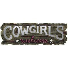 Cowgirls Welcome Mirrored Letters Resin Wall Plaque | Shop Hobby Lobby