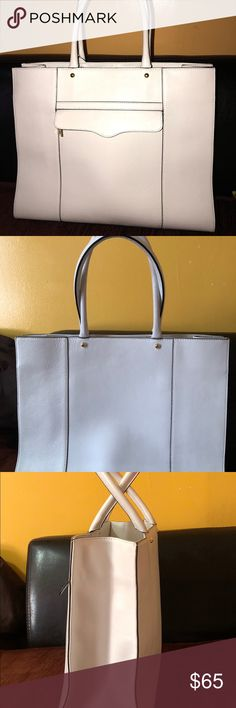 Rebecca Minkoff tote bag Large White M.A.B tote, good condition, 2 visible scratches (see photo) Rebecca Minkoff Bags Totes