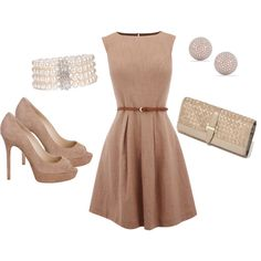 Neutral, vintage look dress, created by pbmhuck.polyvore.com