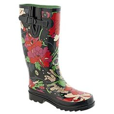 H Woman Bloom Rubber Gumboots