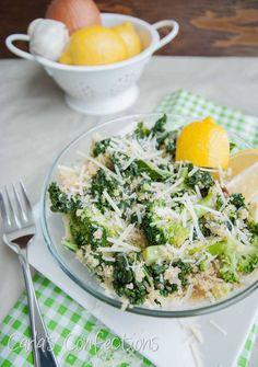 Carla's Confections: Kale & Broccoli Quinoa Makes 2 servings