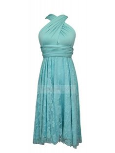 f1aea3495b53a Knee Length Convertible Bridesmaid Dress In Robins Egg Blue Lace  lace   dress  bridesmaiddress