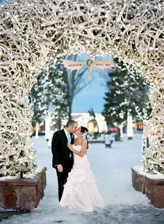 Patrick and Ashley's Wedding  Before winter slips away, we wanted to share this winter wedding shot by Carrie Patterson Photography. The photos are magical!