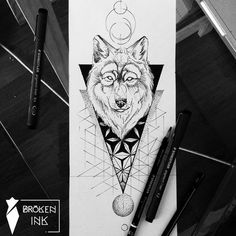 Ideas Of Cool Geometric Tattos Line Work Tattoo, Type Tattoo, Tattoo On, Wolf Tattoos, Animal Tattoos, Orion Tattoo, Geometric Wolf Tattoo, Tattoo Abstract, Geometric Sleeve