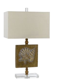 """27.5"""" H Table Lamp with Rectangular Shade"""