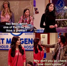 Did anyone else wonder which girl Beck was gonna choose? Funny Dog Memes, Movie Memes, Really Funny Memes, Stupid Funny Memes, Funny Pins, Victorious Nickelodeon, Icarly And Victorious, Victorious Quotes, Nickelodeon Shows