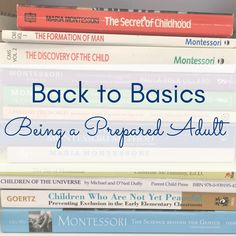 Back to basics - being a prepared adult