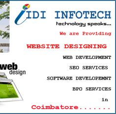 IDI Infotech is one of a leading Web Designing Company in Coimbatore that offers professional, affordable and best Web design and development services, SEO Services. Best Web Design, Coimbatore, Seo Services, Software, Website, Awesome