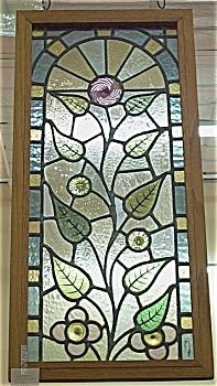Victorian Stained Gl Window Fancy Leaves Please Click The Image For More Information Windowshanging