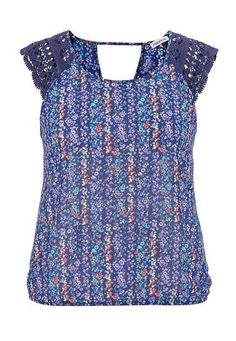floral chiffon plus size top with crochet shoulders (original price, $34) available at #Maurices