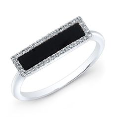 At Anne Sisteron Fine Jewelry, Buy white gold onyx diamond bar ring online Diamond Bar, Rings Online, Jewelry Collection, Fine Jewelry, Jewelry Design, White Gold, Gems, Engagement Rings, Luxury