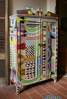 AFRICAN WHIMSICAL  Lucas Rise painted furniture
