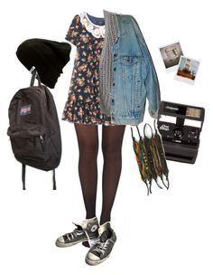 """Untitled #85"" by shenzi-uni ❤ liked on Polyvore featuring Pretty Polly, 3.1 Phillip Lim, Levi's, Converse, Polaroid, Vans and JanSport"