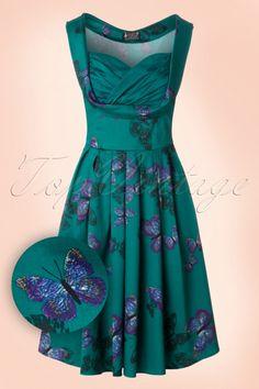 Lady V Madison Teal Butterfly Dress 102 39 19069 20160510 0007W1