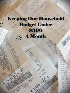 Keeping our household under $300 a month