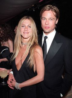 It is a very inconvenient fact that Aniston — famously dumped by first husband Brad Pitt after he fell in love with Angelina Jolie — is getting divorced again and perpetuating the 'poor Jen' stereotype. Brad Pitt Jennifer Aniston, Brad Pitt And Jennifer, Brad And Jen, Jenifer Aniston, Angelina Jolie, Oklahoma, Lil Black Dress, Movie Couples, Rachel Green