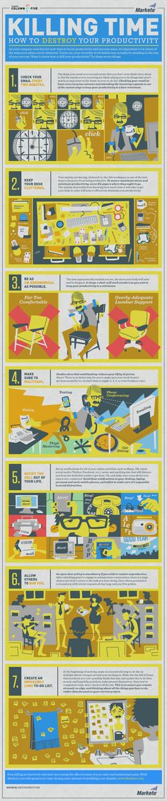 Killing Time: How to Destroy Your Productivity - #Infographic