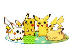 Pikachu in the style of 4 generations (drawn by ssalbulre) : pokemon