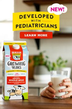 Meet Horizon® Growing Years™ organic whole milk! We partnered with pediatricians to identify key nutrients for growing kids, ages 1 to Trim Healthy Recipes, Baby Food Recipes, Healthy Dinner Recipes, Healthy Snacks, Health Recipes, Healthy Tips, Cake Recipes, Food Garnishes, Nutrition