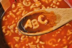Both kids and adults will love this healthy, creamy tomato soup with a spoonful of playful alphabet letters. Serve this tomato soup all on its own, or with classic grilled cheese. Alphabet Pasta, Alphabet Songs, Food Alphabet, Alphabet Letters, Typography Alphabet, Letter Tracing, Letter Recognition, Soup Stock Image, Teaching The Alphabet