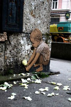 """Street artist Michael Aaron Williams purposely puts up his homeless street people in places where others will find them...he simply tapes them to the walls so that anyone who passes by might want to stop, take them off the wall, and bring them home. And if no one does? """"They will cease to exist,"""" Williams says. """"They will be destroyed and blown away in the wind or other forces that will rip them down and throw them away."""""""