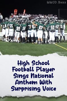 High School Football Player, Football Players, Homecoming Games, Singing The National Anthem, Happy Gif, Rare Videos, Music Songs, The Voice, The Incredibles