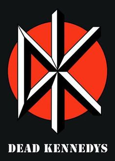 Dead Kennedys - Another act to design a logo on the basis of their initials, the Dks made the most of their nickname with the help on Winston Smith in the late 70s with this stunning spear-headed symbol. As the Dead Kennedys popularity moved onwards, the symbol went with them, wherever they went on tour, graffitied on the back of gig venues where they played by loyal fans.
