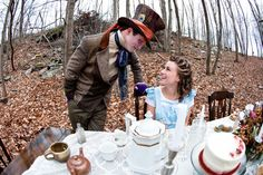 From an Alice in Wonderland themed engagement photo shoot. WOW. I have to do something like this oneday!! ♥♥♥