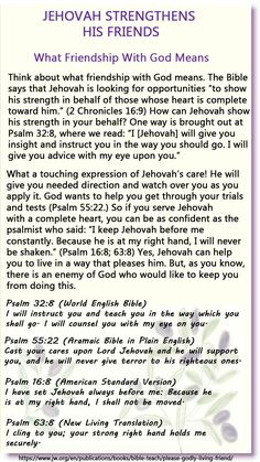 Pleasing God—How to Live a Godly Life and Be a Friend of God Jw Bible, Bible Truth, Bible Scriptures, Bible Quotes, Words Quotes, Daily Devotional Prayer, Letter Writing Samples, Comforting Scripture, Public Witnessing