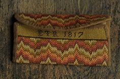 Ladies Flame Stitch Pocketbook-Pam Gill