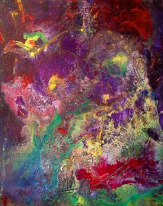 Abstract painting #35 by Ron Matzov.