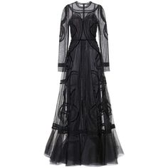 Dolce & Gabbana Embellished Floor-Length Gown (€7.235) ❤ liked on Polyvore featuring dresses, gowns, dolce & gabbana, long dress, black, cocktail/gowns, long dresses, evening cocktail dresses, special occasion dresses and long cocktail dresses