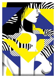 Silkscreen print from the Papier glacé series created for a personal exhibition