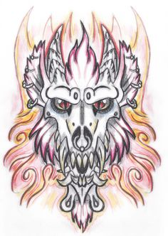 Werewulf Demon Tattoo Design 1 by The-Monstrum on DeviantArt Demon Tattoo, Tattoo Outline, Tattoo Designs, Tattoo Ideas, Deviantart, Outlines, Tattoos, Animals, Tatuajes
