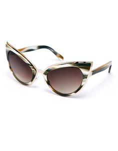 Enlarge ASOS Handmade Acetate Cat Eye Sunglasses With Metal Bridge Detail