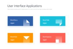 Amazon — Enterprise Applications Branding on Behance Web Design, App Ui Design, Interface Design, User Interface, Icon Design, Letterhead Business, Business Flyer, Enterprise Logo, Type Logo