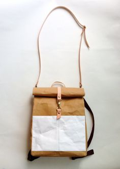 Backpack : Kraft paper roll top backpack/travel от Belltastudio