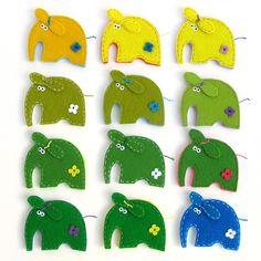 брошки слоники