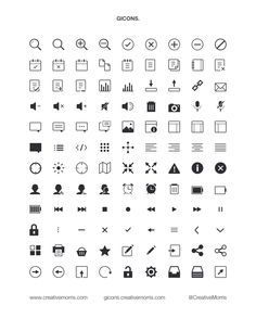 GICONS are hand crafted, scalable vector icons for designers and developers. This particular pack comes with 100+ free custom icons in PSD and PNG format.